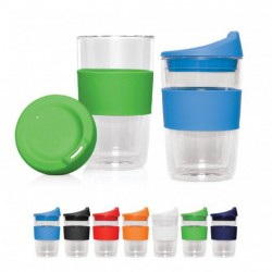 300ml Double Walled Glass Cup 2 Go