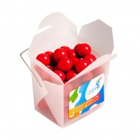 Frosted Noodle Box with Orange Choc Drops (Jaffa Look Alike) 100G