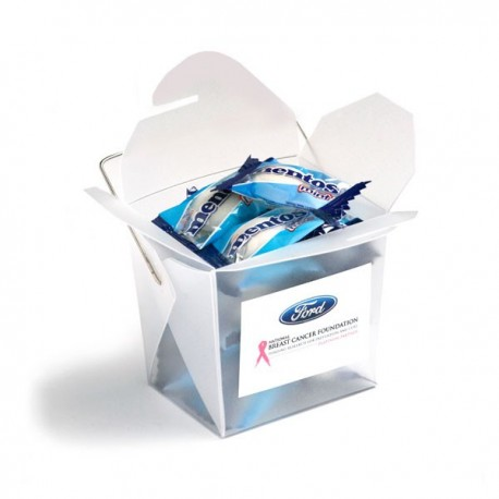Frosted PP Noodle Box Filled Mentos X 26