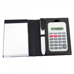 Notepad with Pen and Calculator