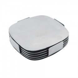 Executive Stainless Steel Coaster Set