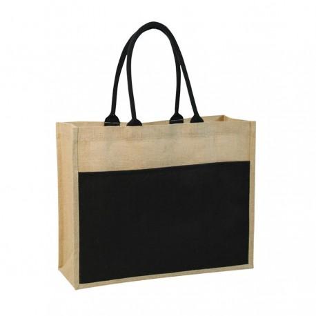 Contrast Eco Jute Bag