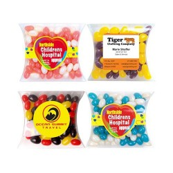 Corporate Colour Mini Jelly Beans in Pillow Packs