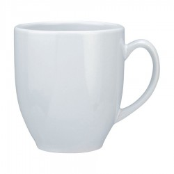 Vancouver Cup Shaped Mug, all white - LARGE (440ml)