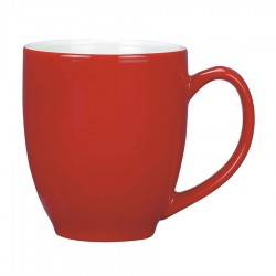 Vancouver Cup Shaped Mug, RED/White - LARGE (440ml)