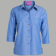 JB's Ladies 3/4 Indigo Shirt