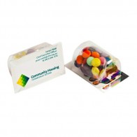 Biz Card Treats with Choc Beans 50G (Mixed Colours)