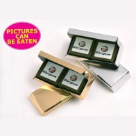 Picture Chocolate – X4 Milk or Dark Chocolates in Gold or Silver Box