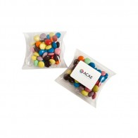 Choc Beans in PVC Pillow Pack 50G (Corporate Colours)