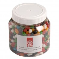 Jelly Beans in Plastic Jar 1Kg (Mixed Colours or Corporate Colours)