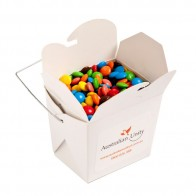 White Cardboard Noodle Box with M&Ms 100G