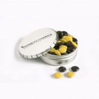 Click Clack Tin Filled with Choc Beans 70G (Mixed Colours)