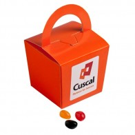 Coloured Noodle Box Filled with Jelly Beans 100G (Mixed Colours or Corporate Colours)