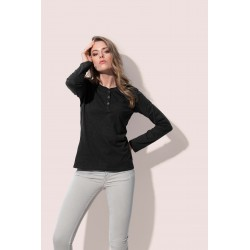 Womens Sharon Henley Long Sleeve
