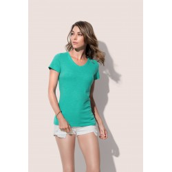 Womens Sharon Slub V-neck